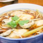 広島産直の牡蠣とろみ蕎麦