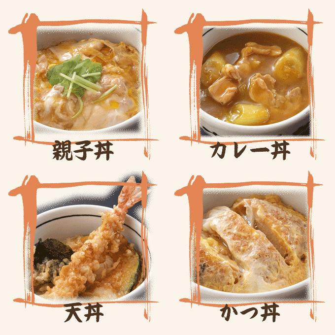 ミニ丼各種