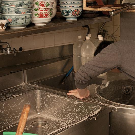 厨房の片付け